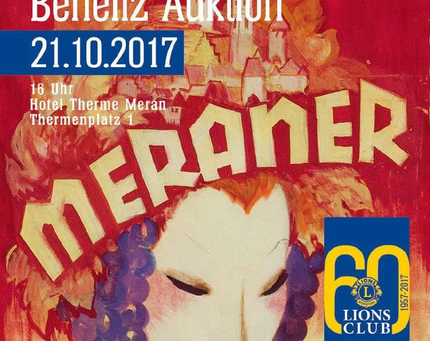 Benfiz Auktion – Asta di beneficenza – 60 Jahre Lions Club Meran-o Host